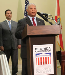 Florida Bar Foundation President Emerson R. Thompson Jr. speaking at Access to Justice Commission Launch