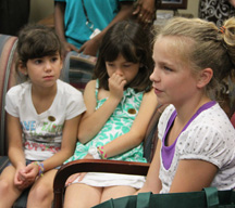 children respond to a question asked by Justice Barbara Pariente