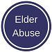 icon graphic depicting elder abuse.