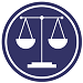 Icon depicting Access to Justice with scales of justice