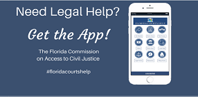 Florida Courts Help App Graphic Showing Phone