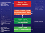 Diagram of the State Courts System
