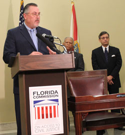 Florida Bar President Gregory W. Coleman, Esq. speaking at Access to Civil Justice Commission Launch