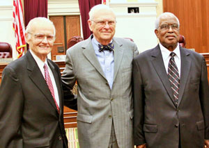 Speakers at the Portraits Presentation Ceremony included former Justice Stephen H. Grimes (who served on the supreme court bench from 1987 – 1997); former Justice Major B. Harding (who served on the supreme court bench from 1991 – 2002); and former Justice Joseph W. Hatchett (who served on the supreme court bench from 1975 – 1979).