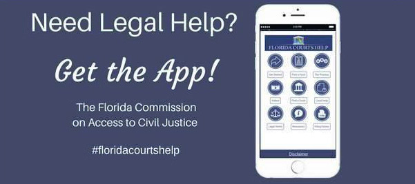 graphic depicting the flcourts help app
