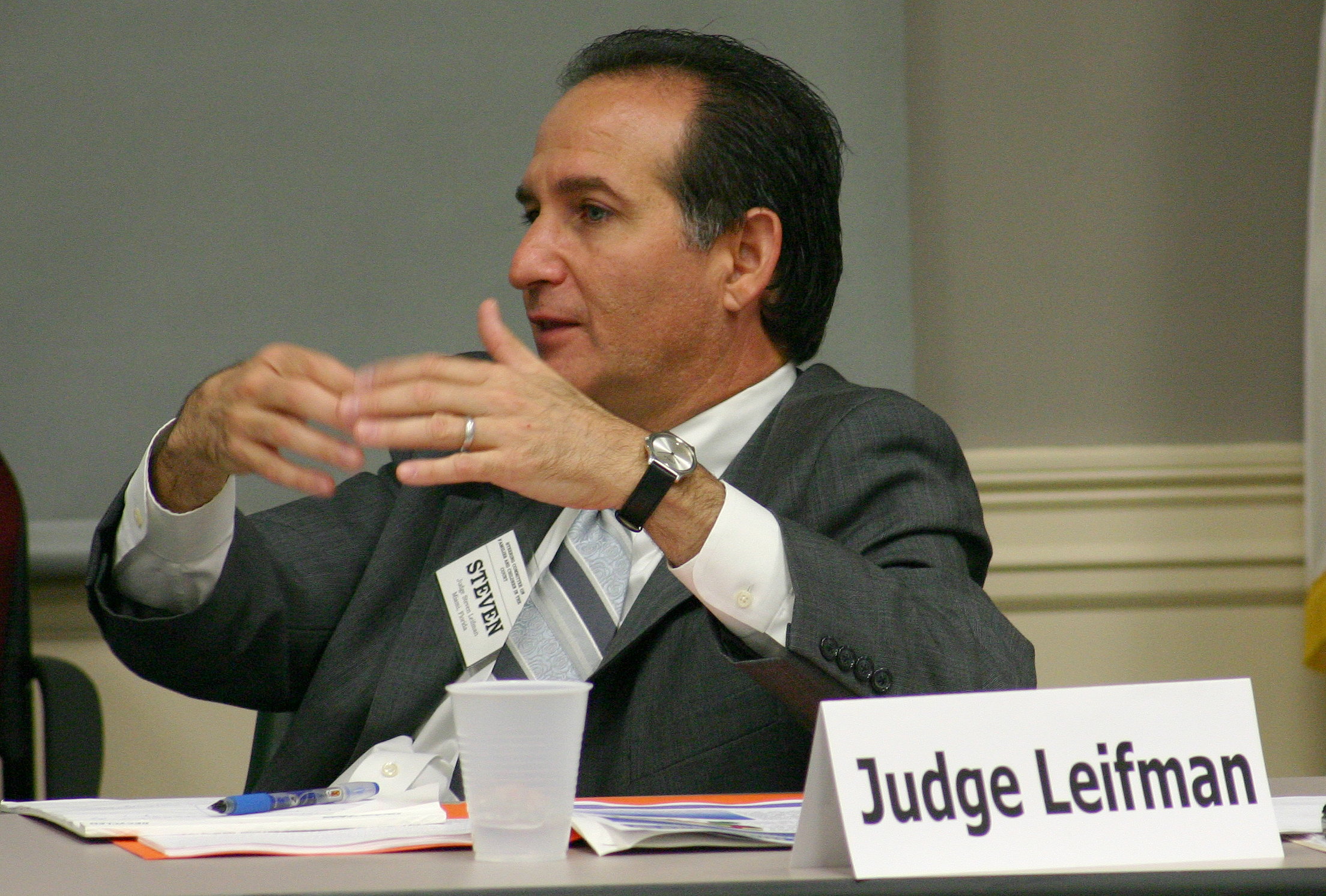 Judge Steve Leifman, Miami-Dade, Presented receives 2015 Chief Justice Award for Judicial Excellence
